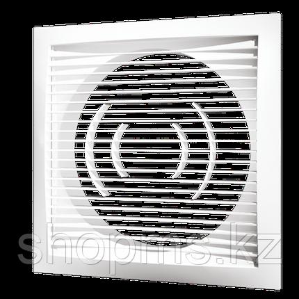 Решетка вентиляционная приточно-вытяжная ЭРА 1515РС10Ф 150*150 с фланцем D100, фото 2