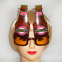 Карнавальные очки Beer коричневые