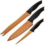 3 ножа с антиналипающим покрытием copper chef, фото 4