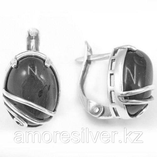 Серьги из серебра с кораллом розовым и хризопразом   Приволжский Ювелир 353031
