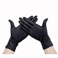 Набор черных перчаток, 50 шт, фото 1