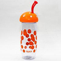 """Эко бутылка для воды """"Грибочек"""", 0,4 л, оранжевая"""