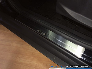 Накладки на пороги нерж.сталь  Ford Focus 2011-2014 (комплект 4шт.)