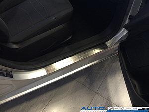 Накладки на пороги нерж.сталь  Ford Fiesta 2015- (комплект 2шт.)