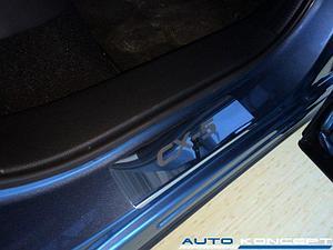 Накладки на пороги нерж.сталь  Mazda CX-5 2011-2015, 2015- (комплект 4шт.)