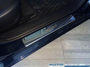 Накладки на пороги нерж.сталь  Mazda 6 2012- (комплект 4шт.)