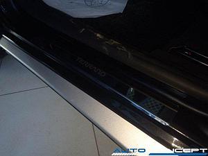 Накладки на пороги нерж.сталь  Nissan Terrano 2014- (комплект 4шт.)