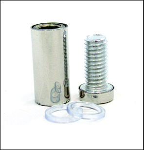 Дистанционный держатель 12х30 мм серебро глянец