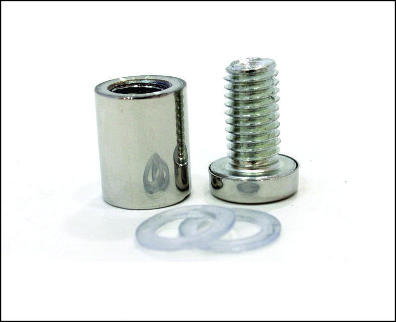 Дистанционный держатель 16х25 мм серебро глянец