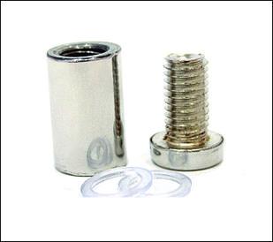 Дистанционный держатель 16х30 мм серебро глянец