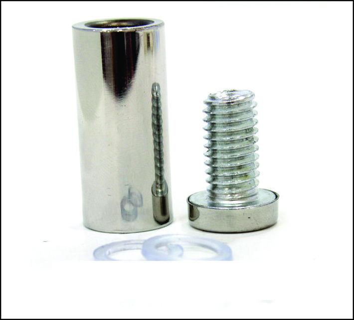 Дистанционный держатель 16х40 мм серебро глянец