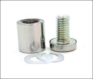Дистанционный держатель 19х25 мм серебро глянец