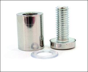 Дистанционный держатель 19х30 мм серебро глянец