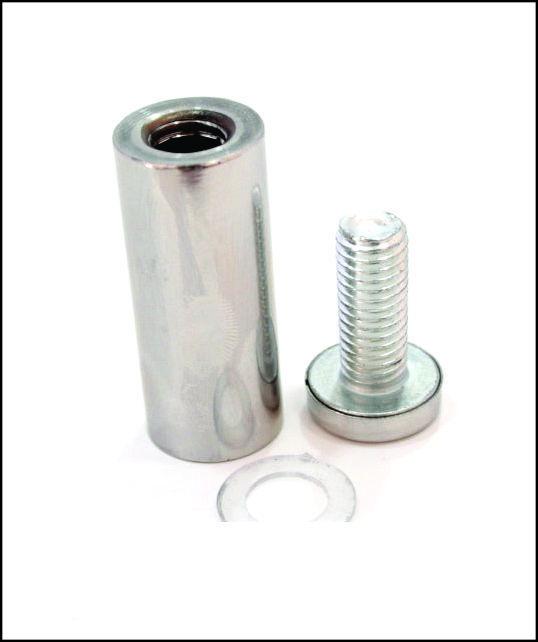 Дистанционный держатель 19х50 мм серебро глянец