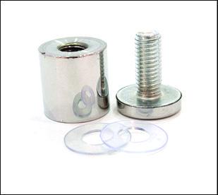 Дистанционный держатель 25х30 мм серебро глянец