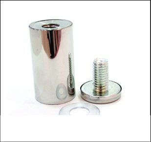 Дистанционный держатель 25х50 мм серебро глянец