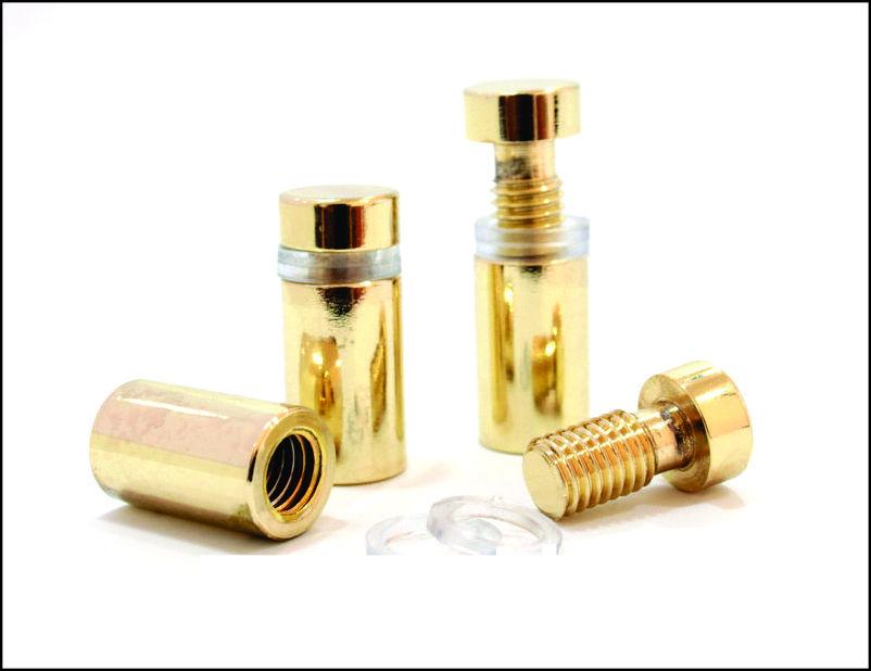 Дистанционный держатель 12х25 мм золото глянец ПРЕМИУМ
