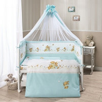 Комплект в кроватку Perina ФЕЯ Лето 7 предметов, голубой, фото 1