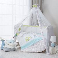Комплект в кроватку Perina Джунгли бело-зеленый, фото 1
