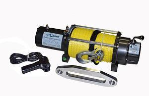 Лебедка электрическая автомобильная СТОКРАТ SD 12.5 SW, 12V, 6.5 л.с., синтетический трос.