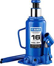 Домкрат гидравлический бутылочный T50, 16т, 228-465мм, ЗУБР Профессионал 43060-16
