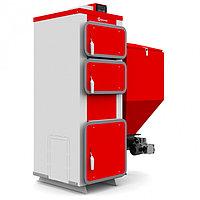 Твердотопливный котел 25 кВт Heiztechnik Q Eko Duo / Q Bio Duo 25 кВт (Станд.горелка)