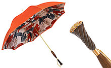 Элитный женский зонт Pasotti. Кристаллы Swarovski