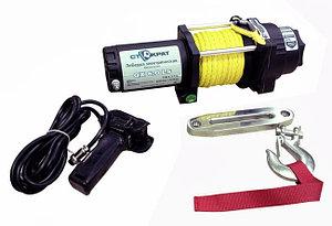 Лебедка электрическая  СТОКРАТ QX 6.0 LS, 12V, 2.0 h.p. с синтетическим тросом удлиненным стальным барабаном.