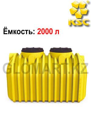 Полиэтиленовый резервуар для подземной установки, 2000л
