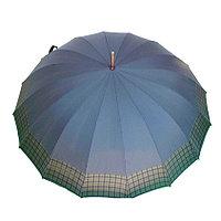 Зонт-трость Real Star, полуавтомат, синий с клеткой