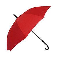 Полуавтоматический зонт-трость с деревянной ручкой, красный