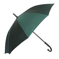 Полуавтоматический зонт-трость с деревянной ручкой, зелёный