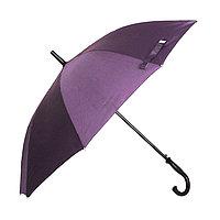 Полуавтоматический зонт-трость с деревянной ручкой, фиолетовый