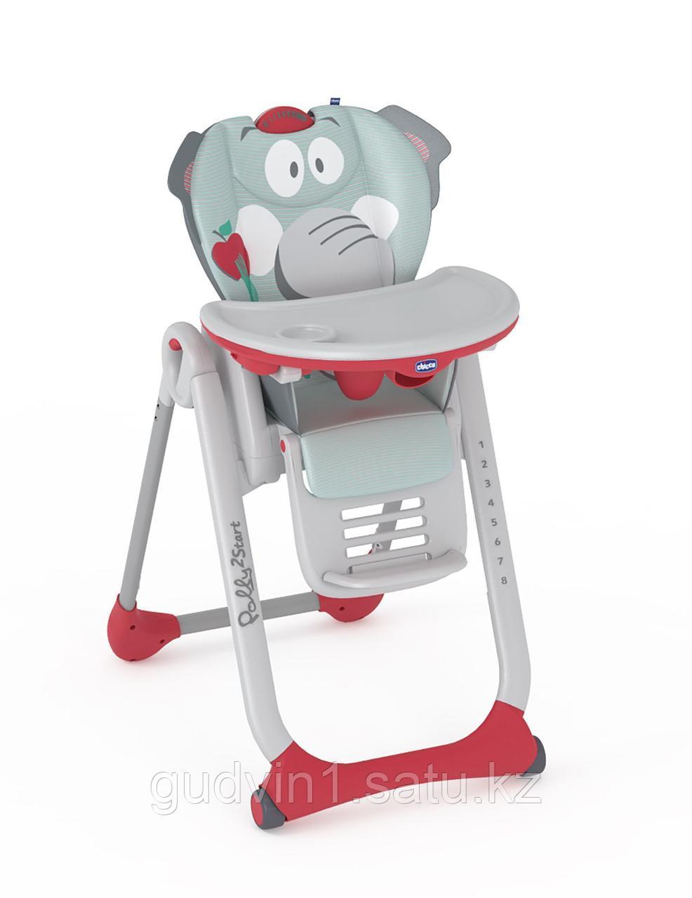 Chicco: Стульчик для кормления Polly 2 Start Baby Elephant 1034028