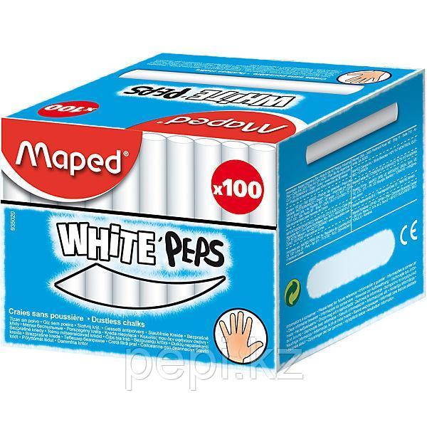 Мел белый Maped, 100шт