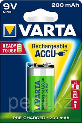 Аккумуляторная батарейка Varta  9V Ni-MH 200mAh (для раций, металлоискателей, микрофонов)