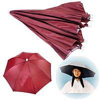 Зонт-шляпа, складной полуавтомат, бордовый