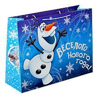 """Пакет ламинат XL """"Веселого Нового года!"""", Холодное сердце, 61 х 46 х 20 см"""