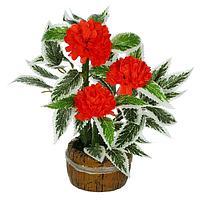 """Бонсай """"Резные листы и цветочки"""" 6,5*6,5*17 см, фото 1"""