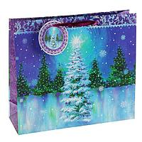 """Пакет подарочный """"Северное сияние"""" люкс, 32 х 26 х 12 см"""