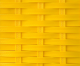 Ротанг 4-х полосная коса, желтый