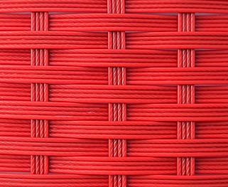 Ротанг 4-х полосная коса, красный