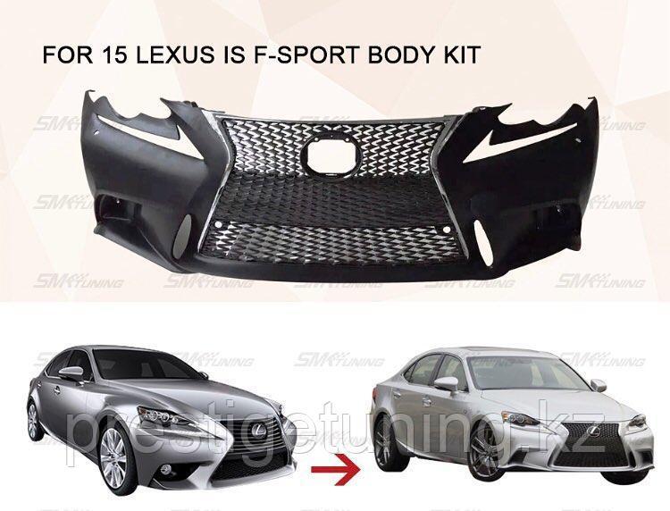 Передний бампер F-sport на Lexus IS 2015+