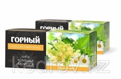 Чайный напиток Горный травяной 25 ф/п по 1,2 гр (ромашка, малина, липа, земляника)