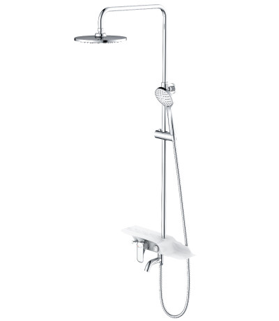 """Смеситель для ванны с верхней душ. лейкой """"Тропический дождь"""" LeMark Серия TROPIC LM7003C"""