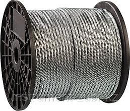 Трос стальной, оцинкованный, DIN 3055, d=1 мм, L=200 м, ЗУБР Профессионал