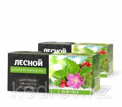 Чайный напиток Лесной травяной 25 ф/п по 1,2 гр (шиповник, душица, ромашка, мелиса)