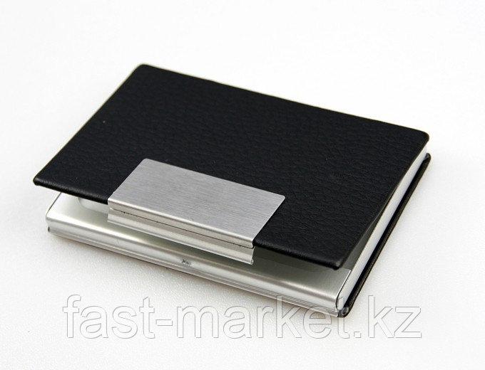 Визитница алюминиевая черная