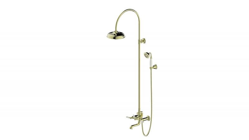 Душевая колонна со смесителем для ванны  Bravat Art  F65193BAF-A2-RUS (золото)