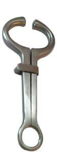 Щипцы носовые пружинные для фиксации КРС арт,118, Гармса